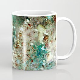 SPARKLING GOLD AND TURQUOISE CRYSTAL Coffee Mug