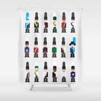 band Shower Curtains featuring Marching Band  by Kat Reiser
