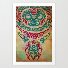 H tattoo Art Print