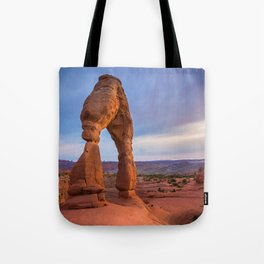 Golden Arch - Delicate Arch at Sunset in Utah Tote Bag