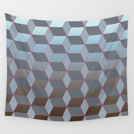 Abstract gradient background with geometric lines Wall Tapestry