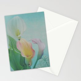 Painterly Calla flowers and leaves Stationery Cards