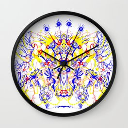 Butterfly with four horns Wall Clock