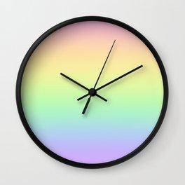 Pastel Rainbow Gradient! Wall Clock