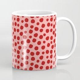 Irregular Small Polka Dots pink and red Coffee Mug