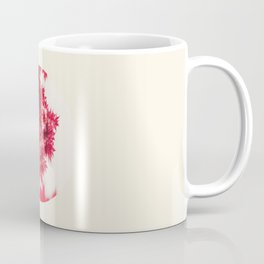 Transparent Red Japanese Maple Round Photo Coffee Mug
