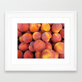 Just a few peaches Framed Art Print
