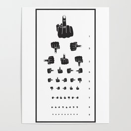 MIDDLE FINGER VISION TEST Poster