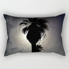 Silhouette in Palm Rectangular Pillow