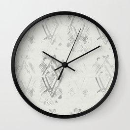 Simply Ikat Ink in Lunar Gray Wall Clock