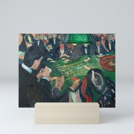 At the Roulette Table in Monte Carlo by Edvard Munch Mini Art Print