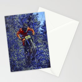 Finish Line Jump - Motocross Racing Champ Stationery Cards