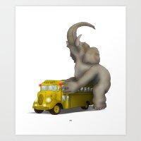 Fuck U Bus Art Print