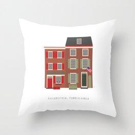 Elfreth's Alley, Philadelphia, Pennsylvania, USA Throw Pillow