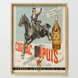 Vintage Cognac Brandy Dupuis Alcoholic Beverage Advertising Poster Serving Tray