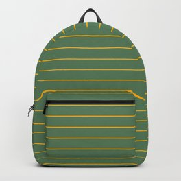 Thin lines yellow back ground soft green Backpack