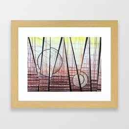 Two Finches Framed Art Print