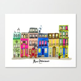 Rue Cremieux, Paris Canvas Print