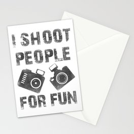 I shoot people for fun Stationery Cards
