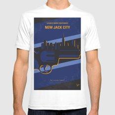 No762 My New Jack City minimal movie poster MEDIUM Mens Fitted Tee White