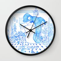 killer whale Wall Clocks featuring Killer Whale by Tayfun Sezer