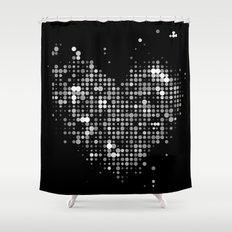 Heart2 Black Shower Curtain