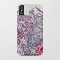 edinburgh iPhone & iPod Cases featuring Edinburgh Map by MapMapMaps.Watercolors