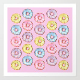Donut Party Art Print
