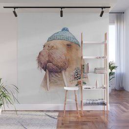Tattooed Walrus Wall Mural
