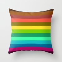lab Throw Pillows featuring Colors LAB  by Msimioni