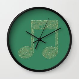 Techno Music Wall Clock