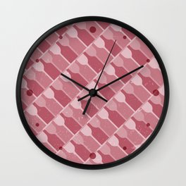 Wine Forever - Red Wall Clock