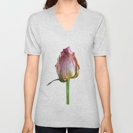 Old Rose on Slate Unisex V-Neck