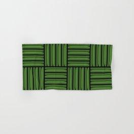 Green metallic pattern Hand & Bath Towel