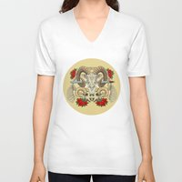 aries V-neck T-shirts featuring Aries by StudioBlueRoom
