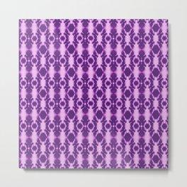 rotary tie-dye pattern in purple Metal Print