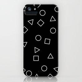 Geometric pattern in black & white iPhone Case