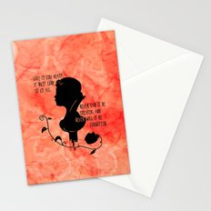 Love is like Death Stationery Cards