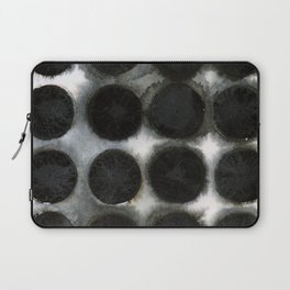WATERCOLOUR DISCS: Black Spinel Laptop Sleeve