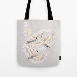 traditional Japanese cranes bright illustration Tote Bag