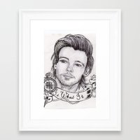 louis tomlinson Framed Art Prints featuring louis tomlinson by stylin_art