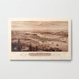 Map Of Olympia 1879 Metal Print