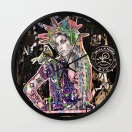 Rehab Amy Graffiti in New York City Wall Clock