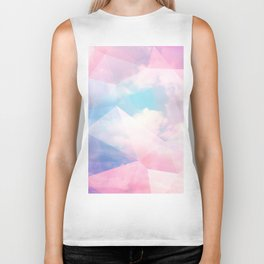 Cotton Candy Geometric Sky #homedecor #magical #lifestyle Biker Tank