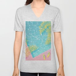 Tropical pool chill Unisex V-Neck