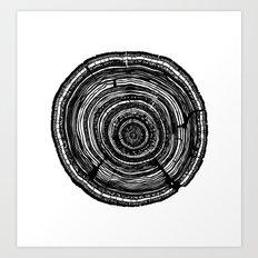 Tree Rings Art Print