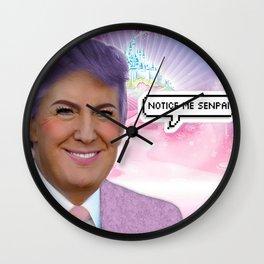 Notice Me Senpai Wall Clock
