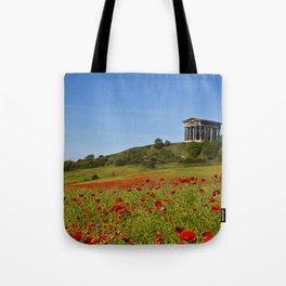 Penshaw Monument Poppys Tote Bag