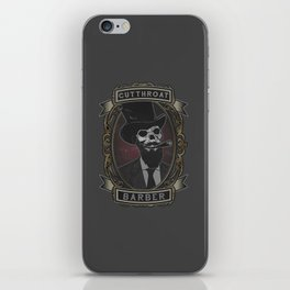Cutthroat Barber iPhone Skin