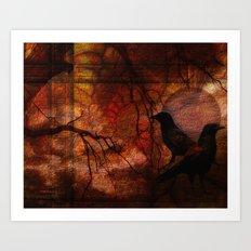 RAVENS WORLD edited Art Print